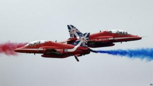 The Red Arrows display during the sixth annual Armed Forces Day in Stirling