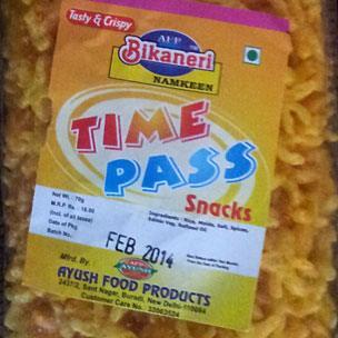 Packet of Timepass snacks