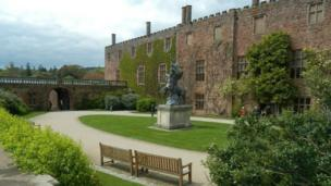 The courtyard at Powis Castle
