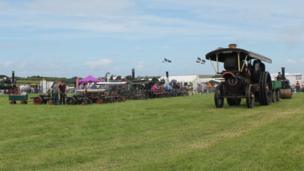 Vintage Rally engines in showground. Pic: Andrew Segal