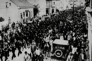 A March Past Of Integralists At Blumenau Brazil, 5 May 1936