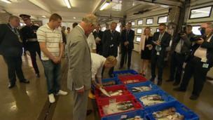 Duke of Cornwall in fish market