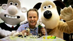 Nick Parks and Wallace and Gromit characters