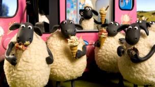 Sheep from Shaun the sheep