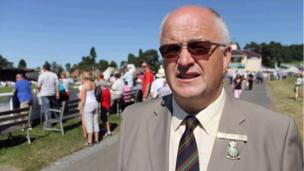 "John Davies, Cadeirydd bwrdd y Sioe Frenhinol wnaeth ddisgrifio Sioe eleni fel ""Blockbuster"" // John Davies, chairman of the Royal Welsh Agricultural Society, who described this years show as a ""Blockbuster"""