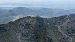 Graham Pratt from Birmingham took this view of Snowdon while on a helicopter ride one on a sunny afternoon