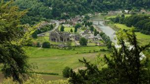 A view of Tintern Abbey, Monmouthshire
