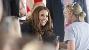 Duchess of Cambridge at National Hockey Centre