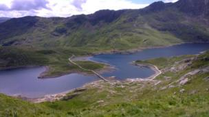 View from the Pyg Track in Snowdonia