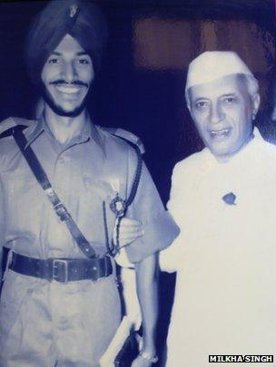 Singh with Prime Minister Jawaharlal Nehru