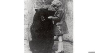 Christopher Robin with Winnie the Bear