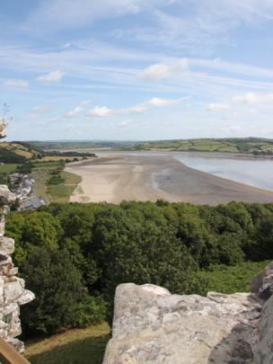 The Tywi Estuary as seeen from Llansteffan Castle