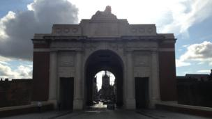 The Menin Gate where a special Last Post will be played for Welsh soldiers who died in the war on Sunday night