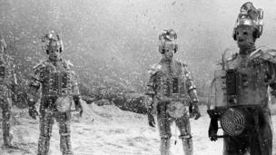 The Original Cybermen in the snow