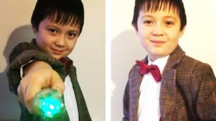 Child dressed up as Doctor Who