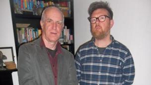Gareth Potter a Rhys Mwyn...wedi gadael yr 20fed ganrif