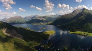 Aerial view of Glencoe