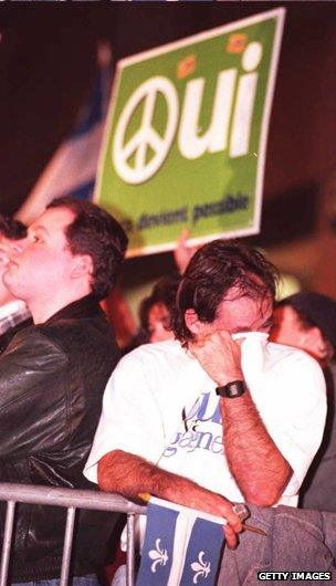 Tears from the yes camp