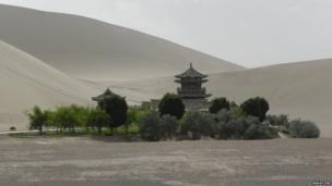 Gobi Desert in China.