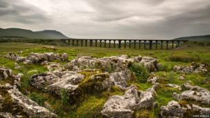 Ingleborough and Ribblehead viaduct, North Yorkshire