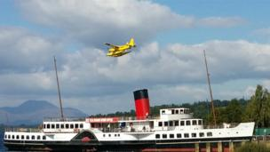 Seaplane at Loch Lomond