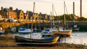 Sunset at Port Seton harbour