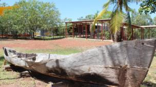 Lipa lipa (traditional canoe) at Yirrkala School