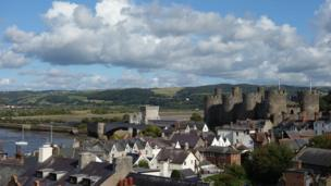 Overlooking the Conwy castle
