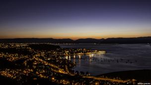 Dusk over Greenock