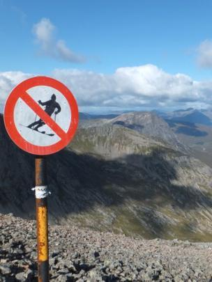 No skiing sign
