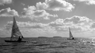 Laser Sailing in the Bristol Channel.