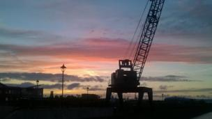 Sunrise over Cardiff Bay