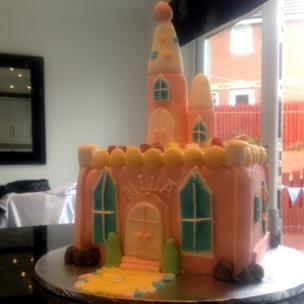 Paul's castle cake
