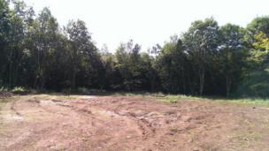 Dechrau'r daith - safle Bryn Eryr ynyr Amgueddfa Werin, Sain Ffagan // Square 1 - Bryn Eryr will be built on this plot at St Fagans Natural History Museum