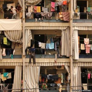 Balconies in Beirut, Lebanon