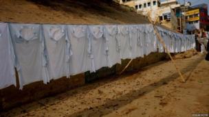 Clothes drying in Varanasi