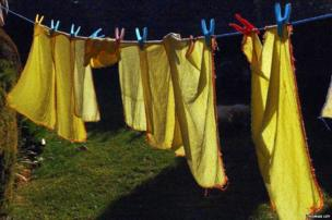 Dusters drying