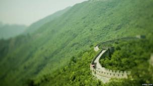 The Great Wall of China, the world's largest man-made structure which was built between 500BC and 220BC.