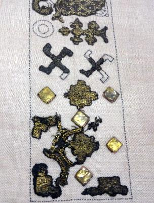 Textile fragments from the 12th Century