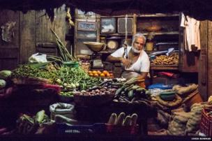 Man at spice market