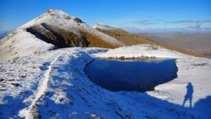 Snow on Stob Coire an Lochain