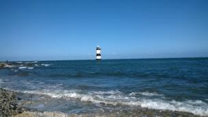 Penmon lighthouse, Anglesey.