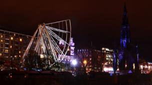 Edinburgh's big wheel under construction