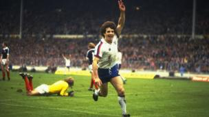 Kevin Keegan celebrates