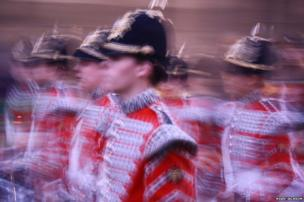 A marching band parade through the streets of Cambridge