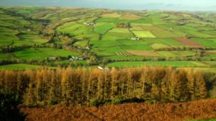 The view from Twyn y Gaer Iron Age hill fort