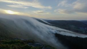 Mist rolling over the hills