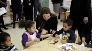 The Duchess of Cambridge at Northside Center for Child Development Harlem