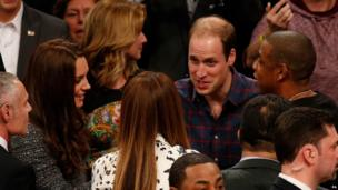 Prince William, Catherine, Beyonce and Jay-Z