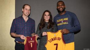 Prince William, Catherine and LeBron James